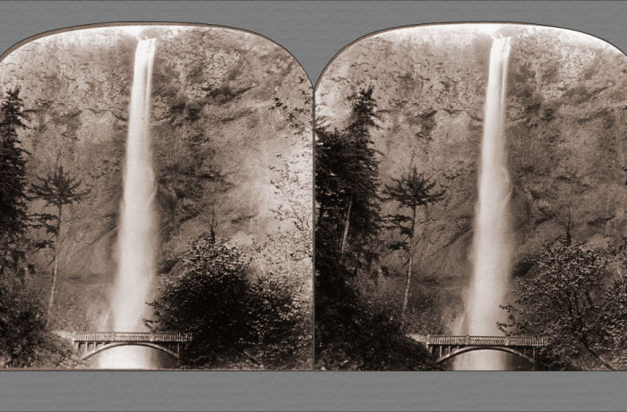 The Silvery Spray of Multnomah Falls